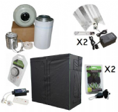 600w HPS 2.4m x 1.2m HEAVY DUTY Premium Grow Tent Kits